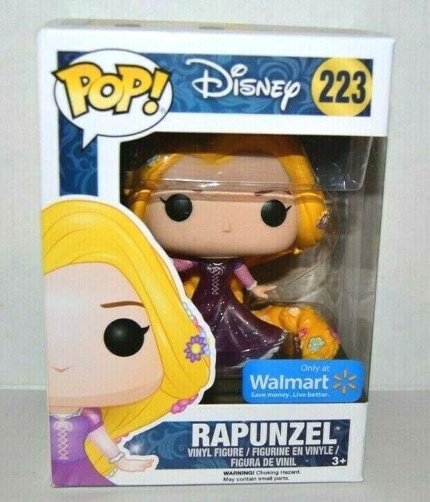 Funko Pop Disney #223 Glitter - Walmart Exclusive Rapunzel Vinyl Figure