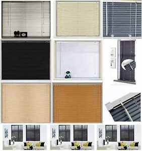 Easy Fit Pvc Venetian Window Blind Blinds Black Cream Teak