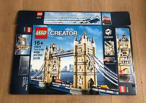 LEGO 10214 Creator Tower Bridge Leerkarton/Box/Ovp NEU
