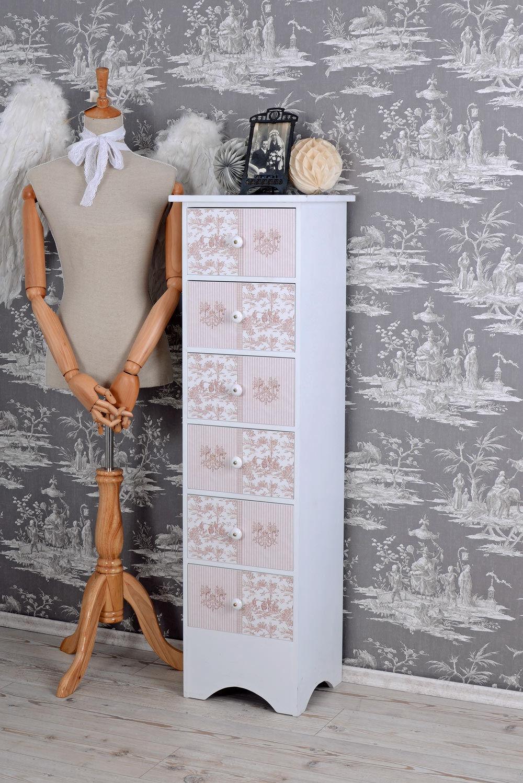 Commode style maison de campagne Armoire toile jouy rose chambre d'ENFANTS