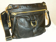 FOSSIL  SASHA  BLACK  GENUINE   LEATHER  SMALL CROSSBODY  BAG