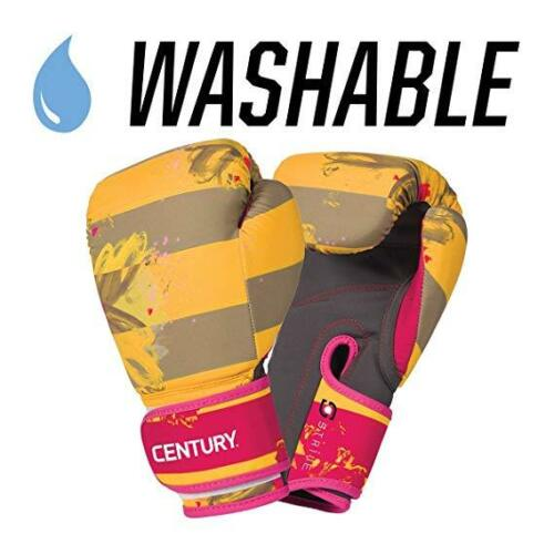 Floral Yellow 10oz Century Strive Washable Cardio Kickboxing Boxing Glove