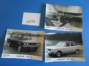 N°11544 / Sunbeam 1300 Tc, 1600 Gls 3 Photos Constructeurs Septembre 1974 Pourtant Pas Vulgaire