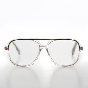 Clear-Square-Retro-Aviator-Reading-Glasses-Black-Accent-3-75-diopter-Billy