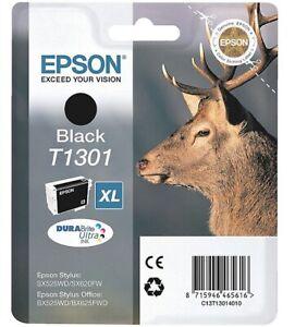Original Epson Tintenpatrone schwarz C13T13014012 T1301 Hirsch Angebot Neu!