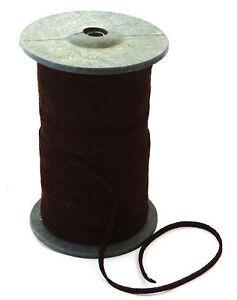 Lederband-flach-3-5mm-breit-Lederriemen-Wildleder-schoko-braun-1-50-2-50-1m