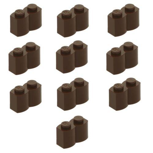 30136 LEGO® 10x Palisadenstein 1x2 dunkelbraun 4519970