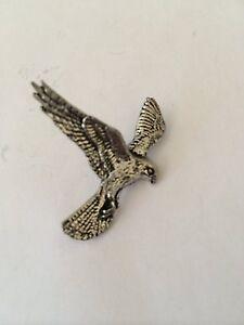 Hawk/'s Head Pin Badge in Fine English Pewter Handmade