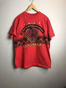 Vintage-1992-Honolulu-Marathon-Finisher-Double-Sided-T-Shirt-Size-Large