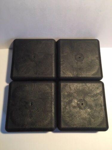 4 pcs x 80mm x 80mm Square Inserts Plugs Steel Aluminium Box