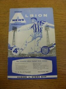 26-10-1963-West-Bromwich-Albion-v-Stoke-City-Creased-Folded-Worn-Pencil-Not