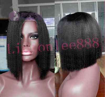 New Yaki bob Short 100% Brizilian remy human hair full/front lace wig 5 colors