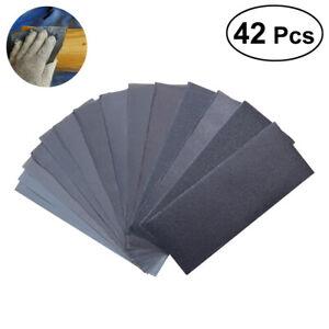42x Papier de Verre, 120 à 3000 Grains Papier de Verre, Papier à Poncer à l'eau