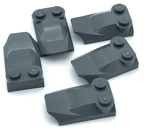Baukästen & Konstruktion Lego 5 New Dunkel Blau Grau Steine Modifiziert 2 X 3 X 2/3 Zwei Ohrstecker