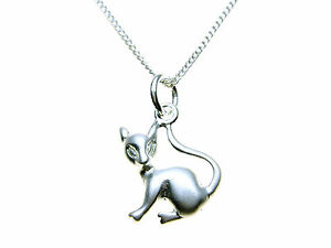 925-Sterling-Silver-Sitting-CAT-pendant-necklet-chain-amp-presentation-box