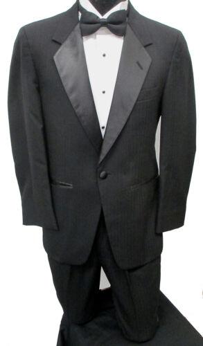 """Black One Button /""""Parisian/"""" Tuxedo Jacket with Pants Prom Wedding Cruise Mason"""
