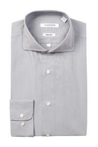175-Isaac-Mizrahi-Mens-Slim-Fit-Gray-Long-Sleeve-Dress-Casual-Shirt-16-32-33