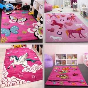 Image Is Loading Childrens Animal Rug Pink Nursery Playroom Mat Baby