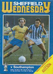 Sheffield-Wednesday-v-Southampton-FA-Cup-1984-Football-Programme