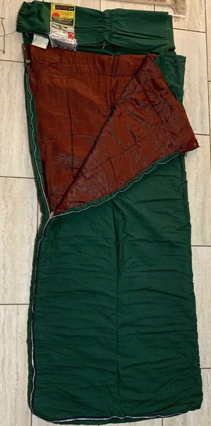 Vintage Hirsch Weis White Stag Sleeping Bag GREEN with Outer  Bag 76  (19-316)  excellent prices