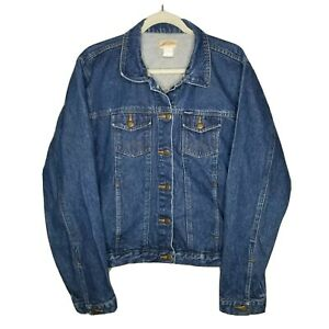 VTG Wrangler Medium Wash Denim Trucker Jean Jacket Women's Size XL