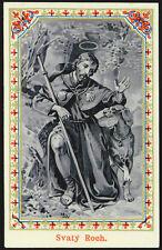 antico santino cromo-holy card S.ROCCO