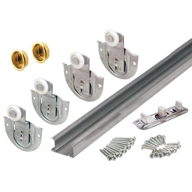 Bypass Closet Door Track Kit Installation Replacement Hardware