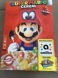Details about 2 boxes Kellogg's SUPER MARIO ODYSSEY CEREAL Limited Edition  Nintendo Amiibo