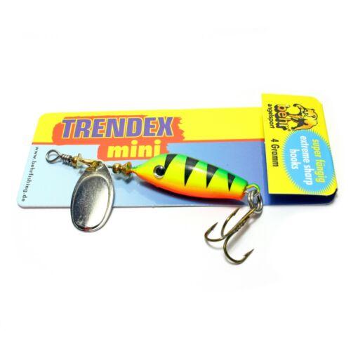 DrillingForellenköder TRENDEX Mini Spinner Wobbler MixRaubfischköder inkl