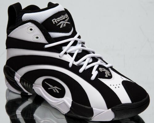 Reebok Shaqnosis Men/'s Black White Retro Basketball Lifestyle Sneakers Shoes