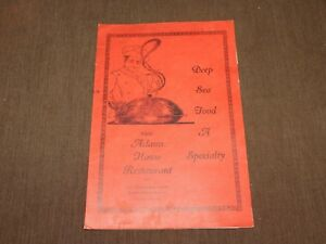 VINTAGE OLD DINING  NEW ADAMS HOUSE  RESTAURANT BOSTON MASSACHUSETTS MENU