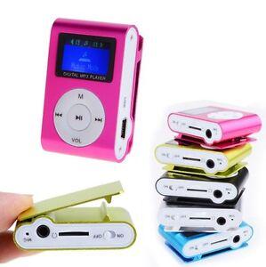 Détails sur Lecteur baladeur MP3 à carte mémoire (jusqu'à 8 Go) clip ceinture Ecran LCD
