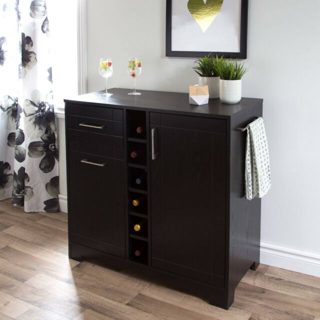 Liquor Cabinet Home Mini Bar Furniture Buffet Table Wine Storage