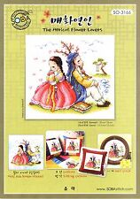 """The couple of Korean Traditional Costume"" Cross stitch chart. SODA SO-3166"