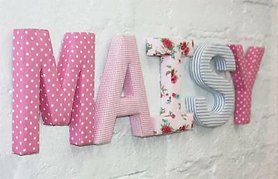 FABRIC ALPHABET LETTERS - PERSONALISE YOUR WALLS WITH YOUR CHILD'S NAME