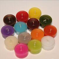 18 Teelichter farbig ohne Duft in transparenter Kunststoffhülle diverse Farben