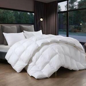 Goose Down Comforter King Size,Duvet Insert,100% Egyptian Cotton Fabric, 700FP | eBay