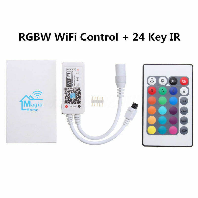 Magic Magic Magic Home WiFi Smart Phone Remote 5 M 40 m 5050 RGBW étanche IP67 DEL  PSU | Outlet Store  09d622