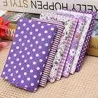 7 Assorted Purple Series Pre-Cut Quarters Bundle Cotton Cloth Quilting Fabric