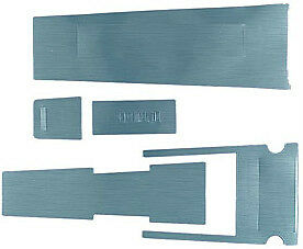 Mustang 1967 67 Deluxe Console Brushed Aluminium Overlay Decal 5 Pce Kit Eleanor
