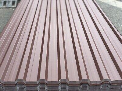 Aktiv Trapezblech Braun Profilblech 500cmx114cm Wellblech Dachblech Stahlblech Ral8017 GläNzend Heimwerker