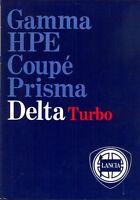 Lancia Delta HF Turbo GT1600 1300 UK market sales brochure