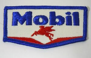MOBIL-OIL-amp-GAS-Embroidered-Iron-On-Uniform-Jacket-Patch-3-5-034