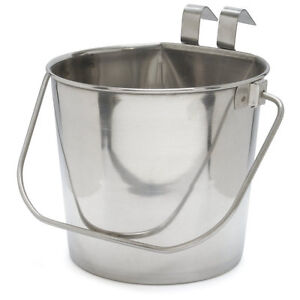 800109 Stainless Steel 6 Quart Flat Sided Food Water