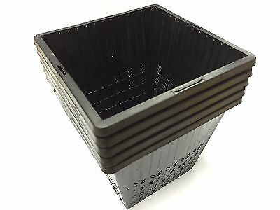 X5 14cm NEW Square. GARDEN POND PLASTIC PLANTING BASKETS FOR WATER PLANTS.  NEW