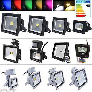 LED Fluter 10W 20W 30W 50W 100W UltraDünn Flutlicht Strahler Außen Scheinwerfer