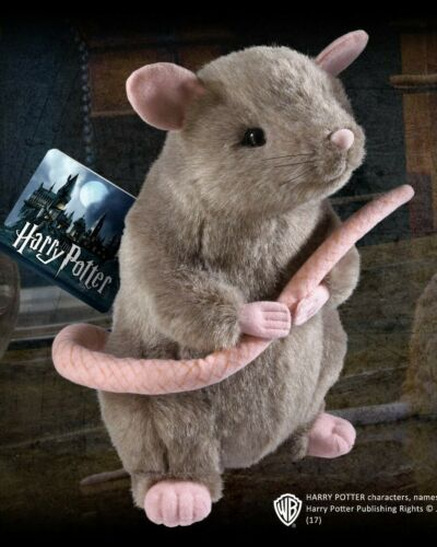 Peluche Scabbers - Noble Collection Harry Potter Croutard