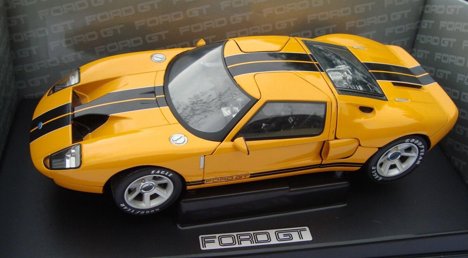 Ford GT arancia w. nero stripes, 1 18 DIECAST Model car, for10014y, nuevo embalaje original &