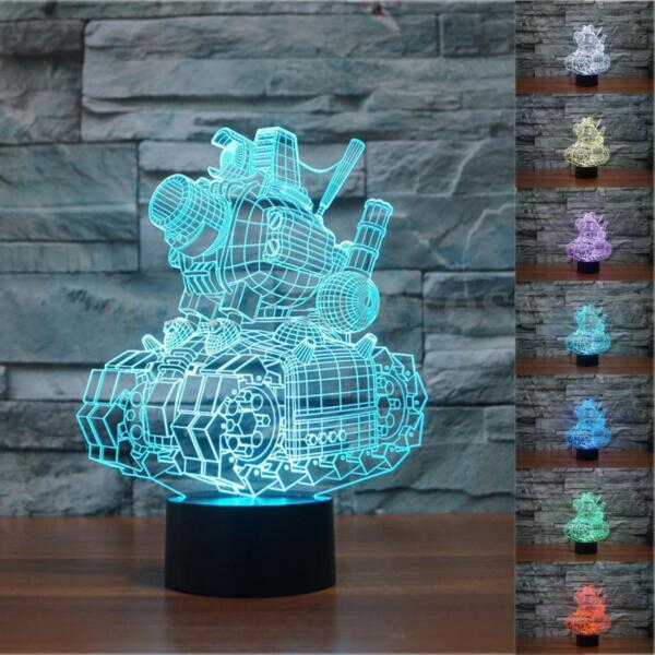 3D illusion Visual Night Light 7 Colors Change LED Desk Lamp Bedroom Home Decor