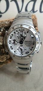 Watch-Horloge-Seiko-Primier-Chonograph-Men-039-s-watch-7T32-7H80